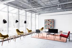 University of Lapland F-block interior, designed by Suvi-Maria Silvola & Laura Seppänen in Rovaniemi, Finland